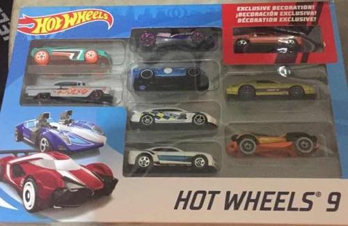 set de 9 carros hotwheels originales