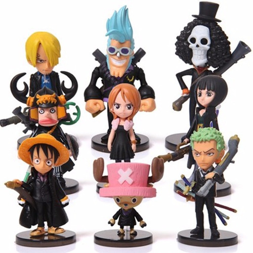set de 9 figuras de one piece anime de colección