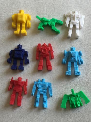set de 9 figuras de transformers monocromaticas barcel