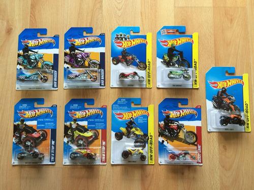 Set de 9 motos hot wheels en mercado libre for 9 salon de hot wheels