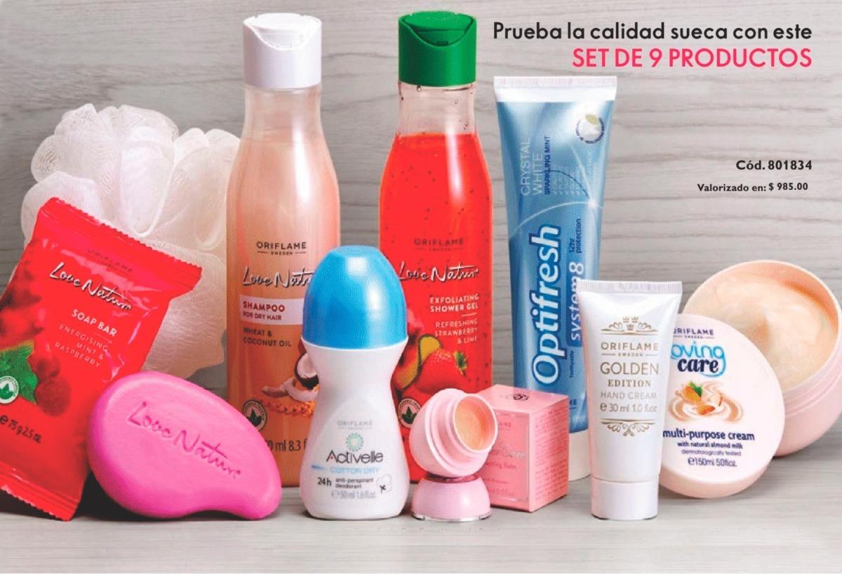 eece9607cdcc Set De 9 Productos De Higiene Y Belleza Oriflame