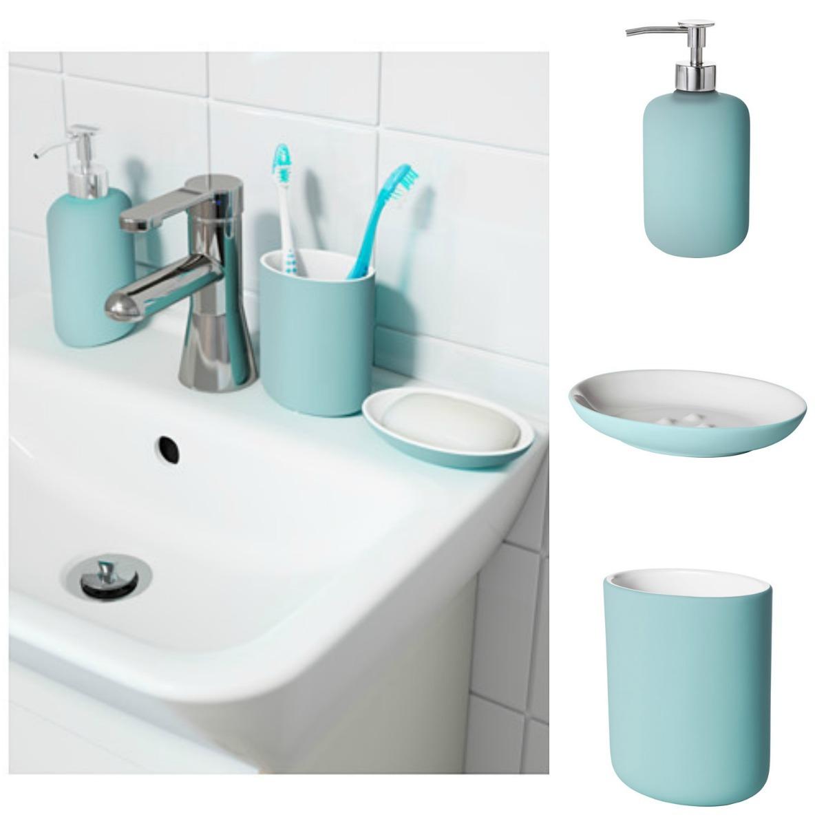 set de accesorios de baño ekoln turquesa de ikea suecia. Cargando zoom. 75a24491d982