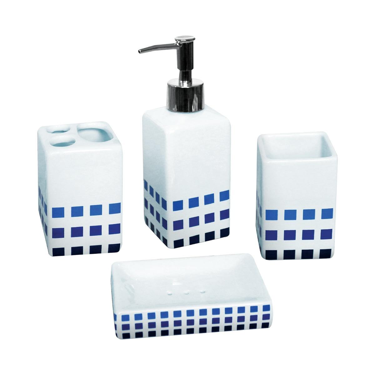 Set De Accesorios Para Baño Ceramica 4 Piezas - $ 390.00 ...