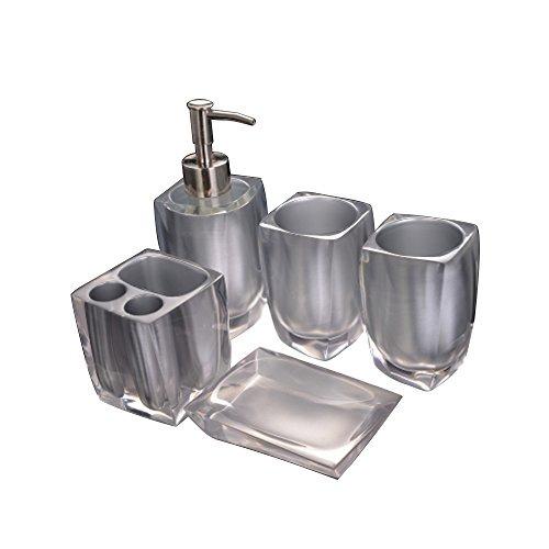 Set De Accesorios Para Baño Jabonera De Resina 423070248fcc