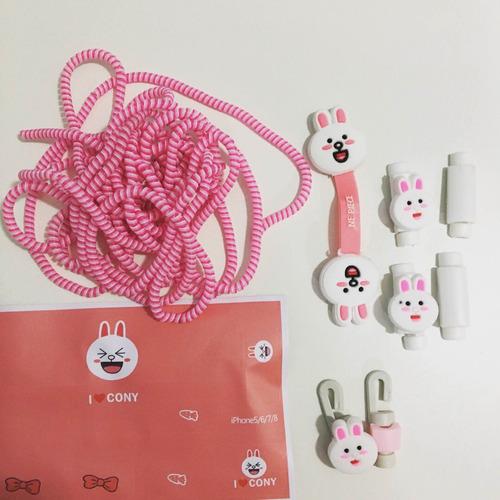set de accesorios para personalizar los cables del celular