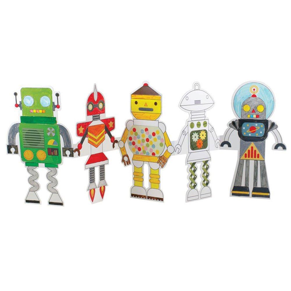 Set De Actividades Para Colorear - Robots - $ 33.900 en Mercado Libre