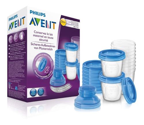 set de almacenamiento de leche materna avent