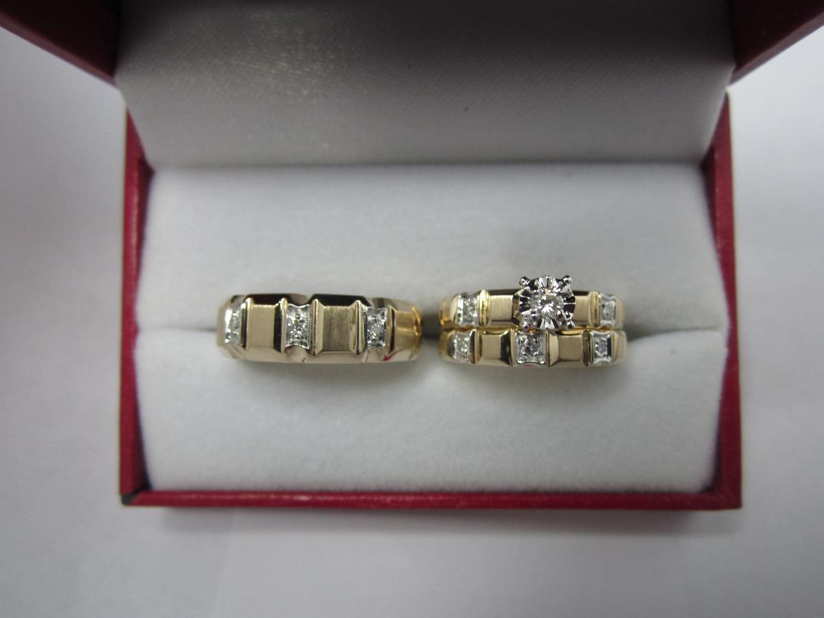 71da9e360871 Set De Anillos De Matrimonio 14k Diamantes .26 Cts G Vvs2 -   17