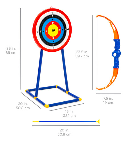 set de arco y flechas para niño best choice products,