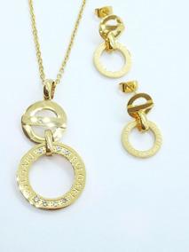 8066884f0bf Collar Aretes Bvlgari Acero Inoxidable Dama - Joyas y Relojes en ...