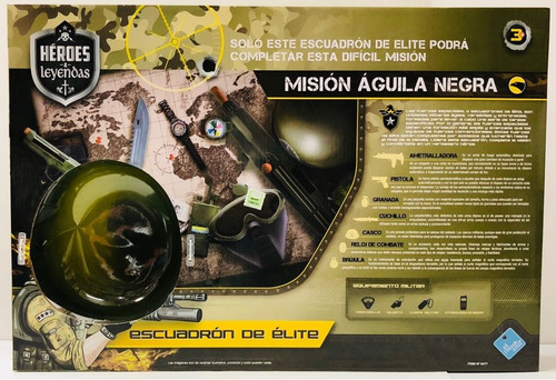 set de armas militar p/ disfraz casco nuevo 6477 bigshop