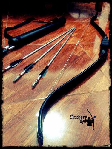 set de arquería: arco + 5 flechas + portaflechas a s/. 250