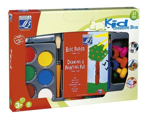 set de arte infantil lefranc & bourgeois kid creative box