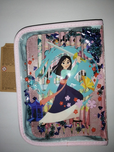 set de arte princesas de disney carpeta con accesorios