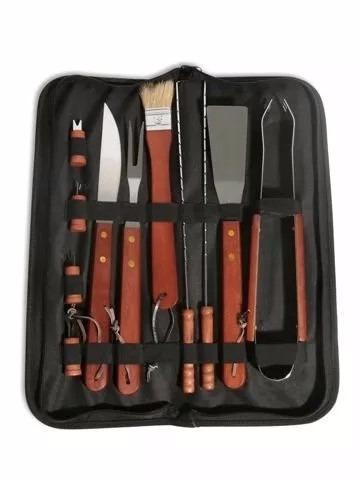 set de asador kit parrillero parrilla accesorios caballito