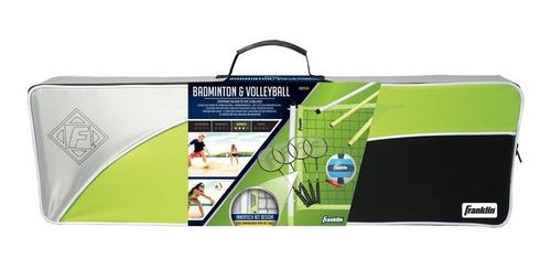 set de badminton volleyball franklin sports advanced pro red
