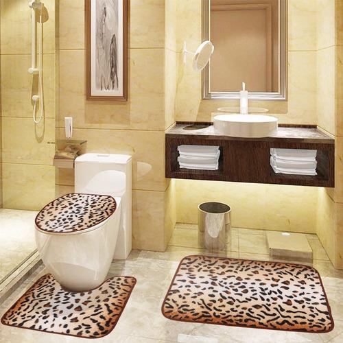 set de baño 3 piezas (2 alfombras + tapa poceta) casa hogar