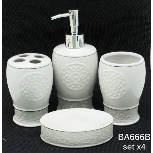 Set De Baño 4 Piezas Jabonera+jab.liquido+porta Cepillo+vaso -   650 ... d2333081b6fd