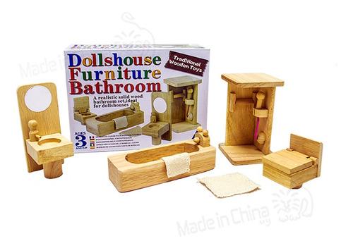 set de baño en madera