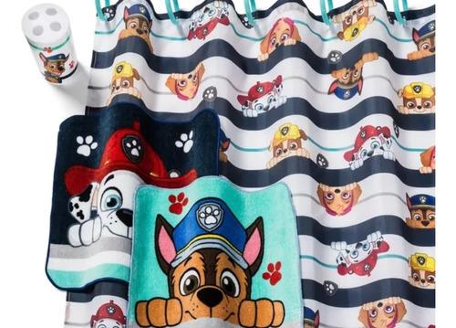set de baño paw patrol 16 piezas cortinas y toalla