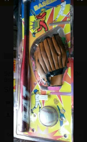 set de baseball bat o bate de beisbol 3 en 1 para niños