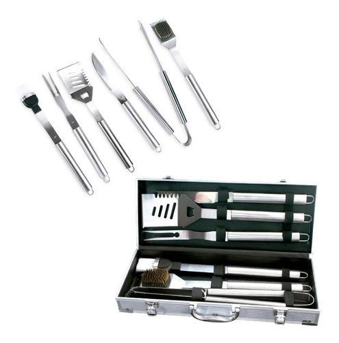 set de bbq en aluminio 6 piezas