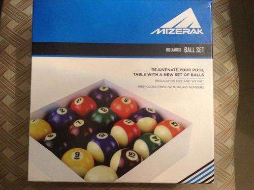 set de bolas de billar marca mizerak (standard)
