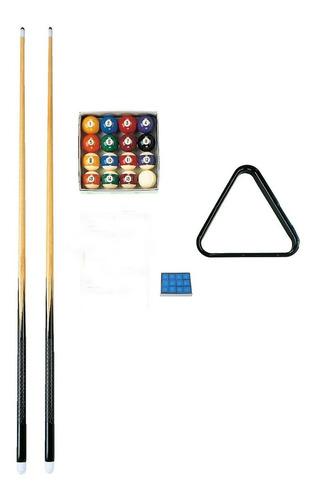 set de bolas triangulo y tacos ramin p mesa de pool kit pool