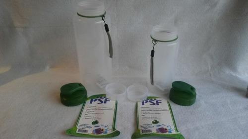 set de botellas porta líquidos psf  grande/pequeña