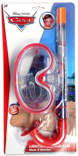 set de buceo disney cars mascara snorkel ds902-2ca bigshop