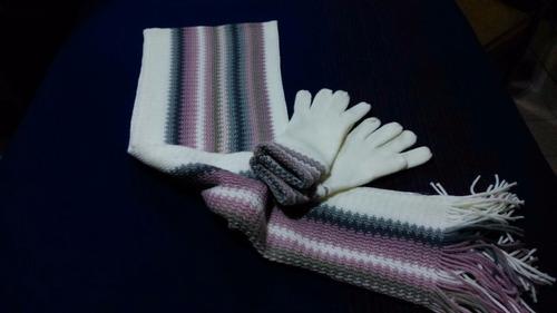 set de bufanda y guantes lana