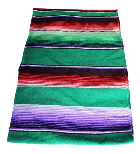 set de caminos de mesa sarape mexicano 37 cmx 2.10 m (5pzas)