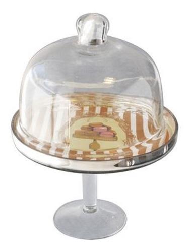 set de campanas de vidrio para alimentos vintage