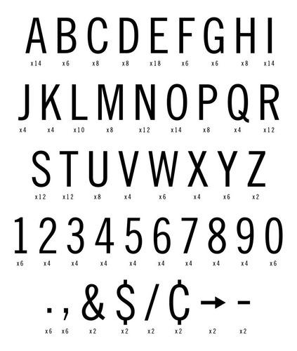 set de caracteres para cartelera vintage letters 3/4´´ gato