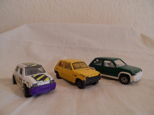 set de carritos renault 5 vintage