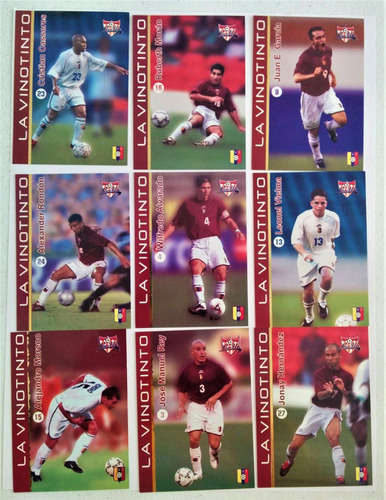 set de cartas cards tarjetas  seleccion futbol venezuela