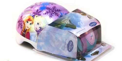set de casco y protección frozen original disney