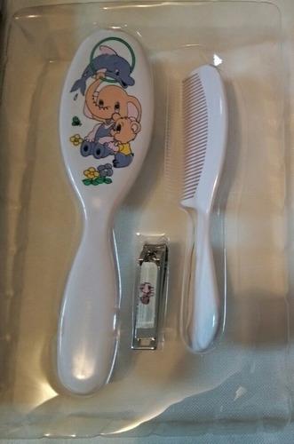 set de cepillo,peine y corta uñas para bebés/set para bebés
