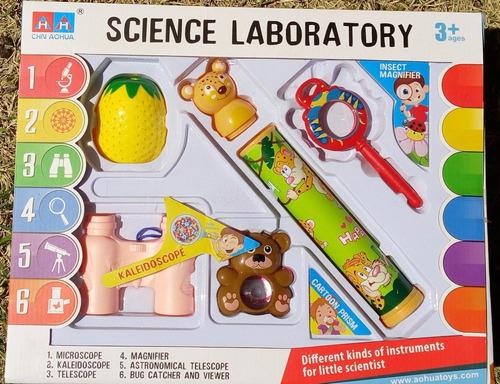 set de ciencias con accesorios optica ciencias 7007a