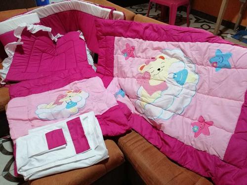 set de cobertores de cuna de niña nuevo