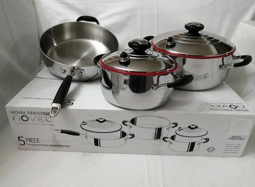 set de cocina 5 piezas.. marca royal prestige