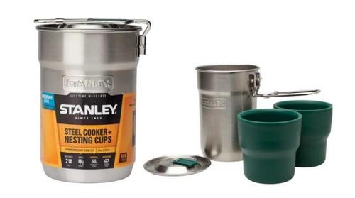 set de cocina marmita stanley olla dos vasos acero pintumm