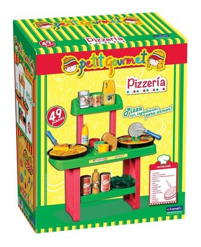 set de cocina pizzeria juguete lionels con 49 accesorios