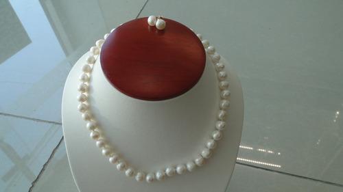 set de collar, aretes y pulseras de perlas envio gratis!