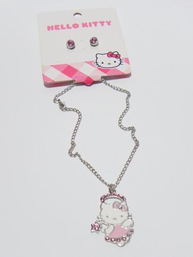 set de collar con aretes hello kitty by sanrio.