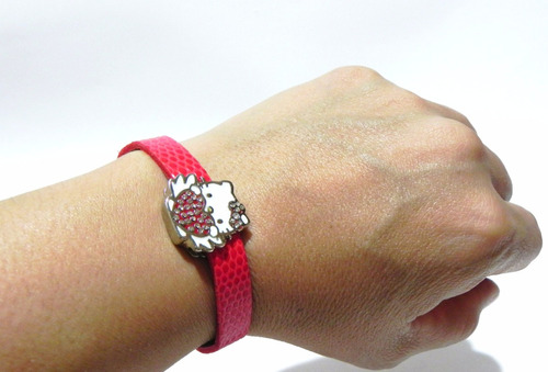 set de collar con dije y pulsera hello kitty swarovski
