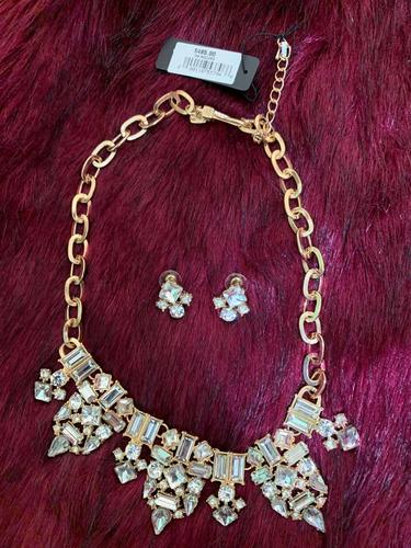 set de collar y aretes joyería fina de palacio de hierro