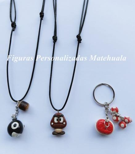 set de collares mario bross accesorios snes