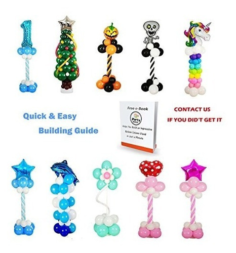 set de columna soporte para globos bombas decoración fiestas