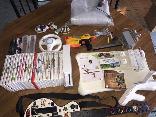 set de consola wii, juegos y accesorios